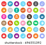 investment icons | Shutterstock .eps vector #696551392