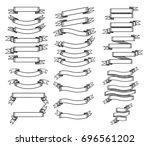banner collection illustration  ... | Shutterstock .eps vector #696561202