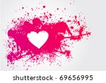 illustration with  pink stain...   Shutterstock .eps vector #69656995