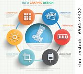 camera info graphic design... | Shutterstock .eps vector #696574432