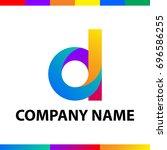 bold letter d logo design.... | Shutterstock .eps vector #696586255