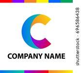 bold letter c logo design.... | Shutterstock .eps vector #696586438
