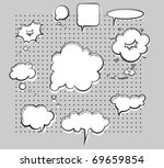 vector ink chat bubbles | Shutterstock .eps vector #69659854