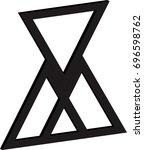 lines triangle logo design .... | Shutterstock .eps vector #696598762