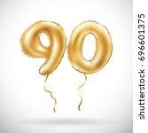 vector golden number 90 ninety...   Shutterstock .eps vector #696601375