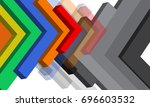 3d arrow shapes vector design... | Shutterstock .eps vector #696603532