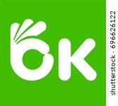 ok symbol  letter like human... | Shutterstock .eps vector #696626122