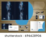 vector abstract folder... | Shutterstock .eps vector #696628906