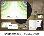 vector abstract folder... | Shutterstock .eps vector #696628936