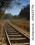 Small photo of Curved Railway Track Approaching Station