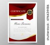 certificate premium template...   Shutterstock .eps vector #696634486
