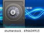 3d illustration of metal safe... | Shutterstock . vector #696634915