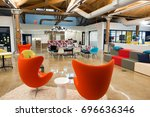 trendy modern open concept loft ... | Shutterstock . vector #696636346