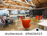 trendy modern open concept loft ... | Shutterstock . vector #696636415