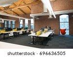 trendy modern open concept loft ... | Shutterstock . vector #696636505