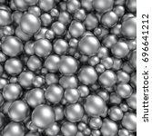shiny silver balls background.... | Shutterstock . vector #696641212
