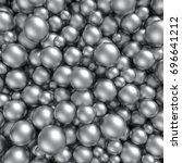 shiny silver balls background.... | Shutterstock . vector #696641212