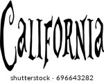 california text sign... | Shutterstock .eps vector #696643282