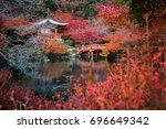 daigo ji temple with colorful... | Shutterstock . vector #696649342