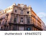 quattro canti   piazza vigliena ... | Shutterstock . vector #696650272