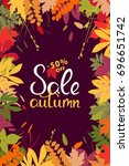 sales banner with multicolor... | Shutterstock .eps vector #696651742