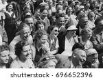 laughing crowd of people | Shutterstock . vector #696652396