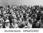 laughing crowd of people | Shutterstock . vector #696652402