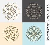 modern stylish organic logo... | Shutterstock .eps vector #696661156