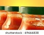 Close Up On Three Pasta Sauce...