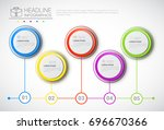 headline infographic design... | Shutterstock .eps vector #696670366