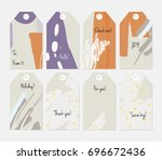 hand drawn creative tags.... | Shutterstock .eps vector #696672436