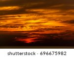 sunset at the sea | Shutterstock . vector #696675982
