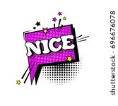 comic speech chat bubble pop... | Shutterstock .eps vector #696676078