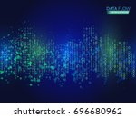 abstract data flow background... | Shutterstock .eps vector #696680962