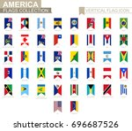 vertical flag icon of america.... | Shutterstock .eps vector #696687526