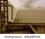 roof vintage   blackground | Shutterstock . vector #696689926