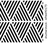 black diagonal lines on white... | Shutterstock .eps vector #696690175