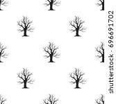 old tree bitmap  raster icon in ... | Shutterstock . vector #696691702