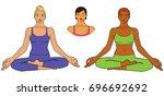 vector illustration of woman... | Shutterstock .eps vector #696692692
