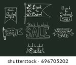 set of back to school labels.... | Shutterstock .eps vector #696705202
