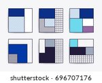 collection with trendy... | Shutterstock .eps vector #696707176