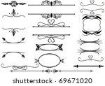 victorian ornate floral frames... | Shutterstock .eps vector #69671020