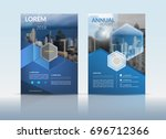 cover design template  annual... | Shutterstock .eps vector #696712366