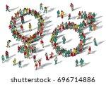 gender symbol man and woman...   Shutterstock . vector #696714886