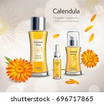 organic cosmetics skincare... | Shutterstock .eps vector #696717865