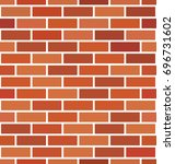 seamless brick wall background. ... | Shutterstock .eps vector #696731602