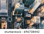 aerial view of midtown... | Shutterstock . vector #696738442