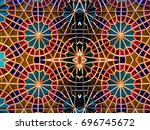 eastern mosaic.  patterns and... | Shutterstock . vector #696745672