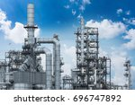 industrial view at oil refinery ... | Shutterstock . vector #696747892