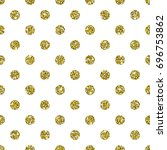 gold glitter background. white... | Shutterstock .eps vector #696753862
